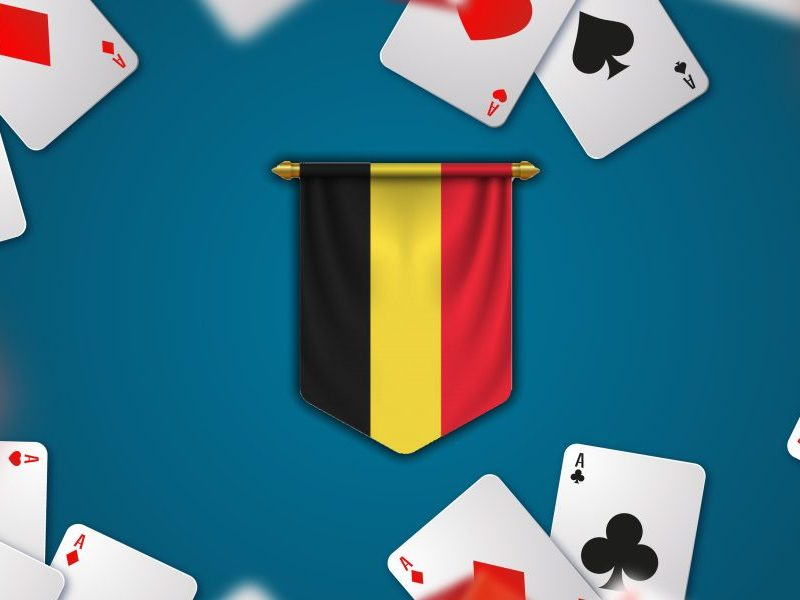 belgium flag and playing cards